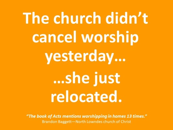 Worship in Homes