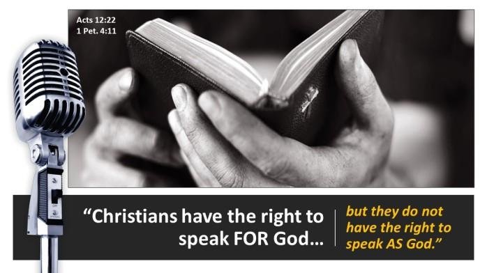 speak for God zx