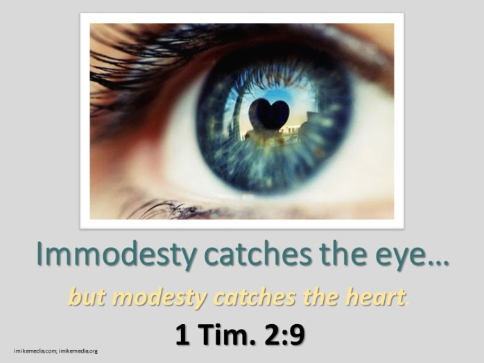 modest eye