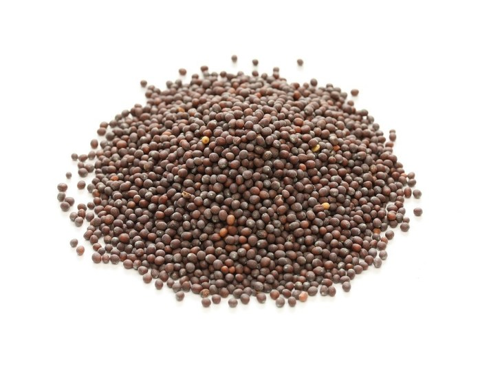 brown mustard seeds, indian spice